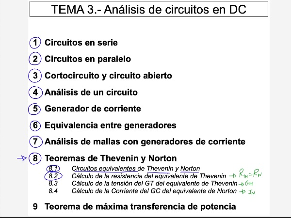 Teoría de Circuitos: 3.8.3.- Tensión del generador del circuito equivalente
