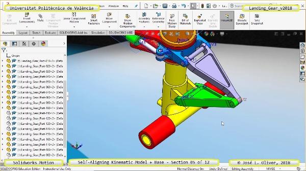 Simulación Dinámica de Tren de Aterrizaje con Solidworks Motion v2017 - 05 de 12