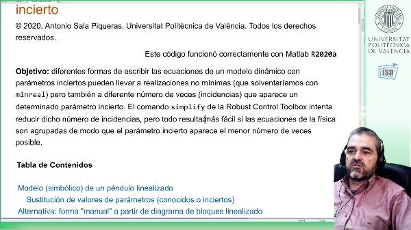 Multi-incidencia de parámetros inciertos: ejemplo Robust Control Toolbox Matlab