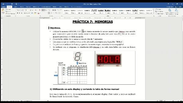 Electrónica Digital. Práctica 6. Memorias.