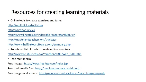 UNIT 3_Sources, resources and tools for the design of ICT-based CLIL tasks