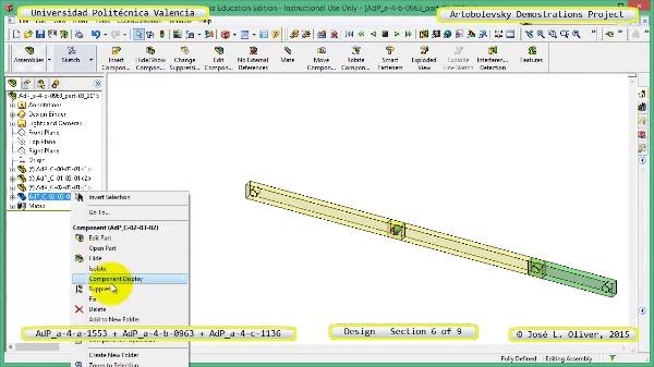 Creación Virtual Mecanismos a-4-1553-0963-1136 con Solidworks - 6 de 9