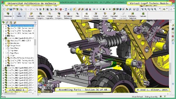Creación Virtual Modelo Lego Technic 8862-1 ¿ Montaje Modelo ¿ 36 de 44