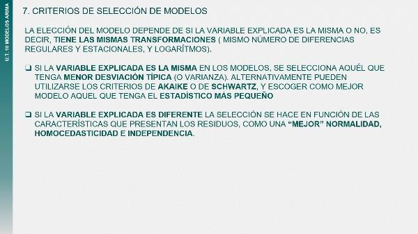 UT10T6 Selección del modelo ARIMA