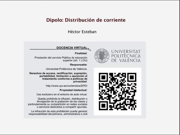 3.1.1.- Dipolo: Distribución de corriente