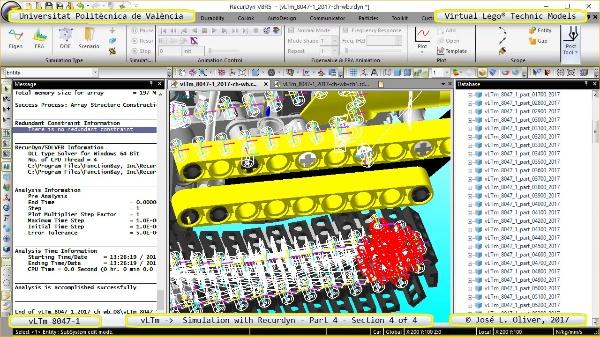 Simulación Cinemática Lego Technic 8047-1 con Recurdyn - Parte 4 ¿ 4 de 4