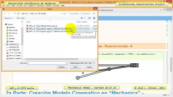 Simulación Mecanismo a-4-1553 con Mechanica - 20 de 25 - Modelo Mechanica