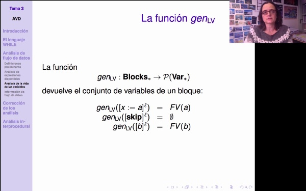AVD - Análisis de variables vivas. Definición de kill y gen