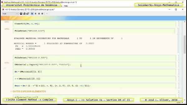 Solución Elementos Finitos Dominio-Plano en Ansys-Classic y Mathematica -T6- v2018 - 04 de 11