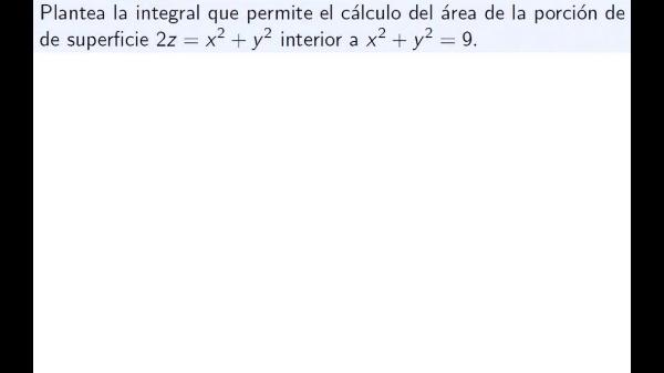 Ejercicio de cálculo de áreas de superficie por integración doble con cambio a polares parte 1
