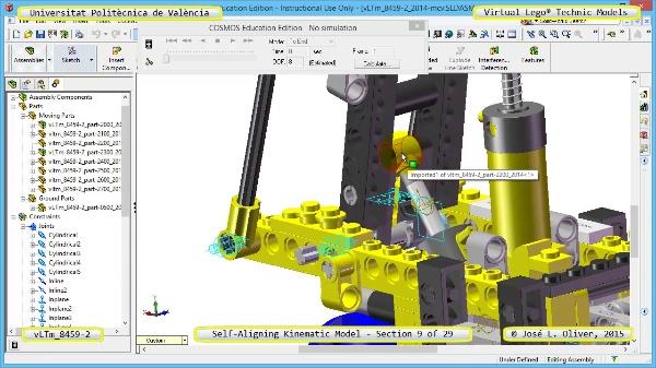 Simulación Cinemática Lego Technic 8459-2 con Cosmos Motion ¿ 09 de 29