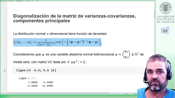 Distribución normal n-dimensional: generación de muestras con covarianza dada (Matlab)