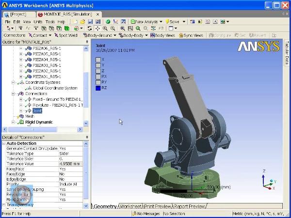 Montaje de un robot ABB con Ansys Workbench. Tramo 02 de 07