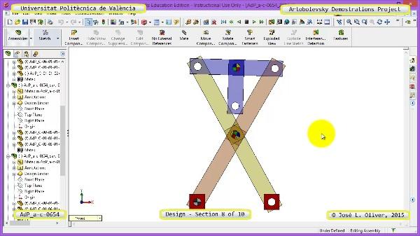 Creación Virtual Mecanismo a-c-0654 con Solidworks - 08 de 10