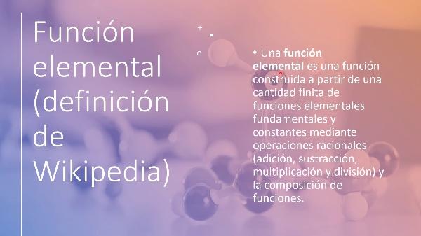 Funciones elementales en Wolfram Alpha