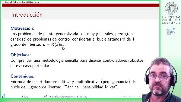 Sensibilidad mixta (2): planta generalizada y problema h-infinito asociado