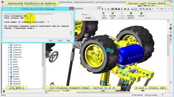 Simulación Cinemática Lego Technic 8459-2 con Cosmos Motion ¿ 15 de 29