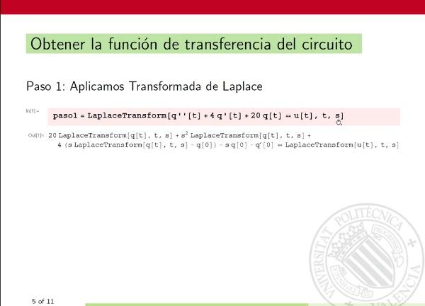 Aplicación  de la Transformada de Laplace a la resolución de problemas de valores iniciales