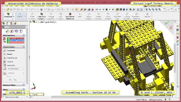 Creación Virtual Modelo Lego Technic 8862-1 ¿ Montaje Modelo ¿ 28 de 44