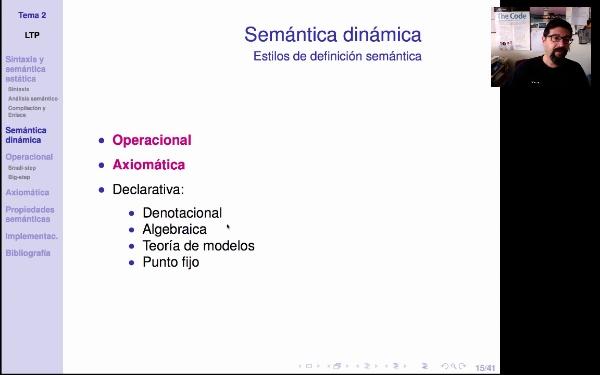 LTP. Tema 2.2. Semántica dinámica de los lenguajes de programación: introducción