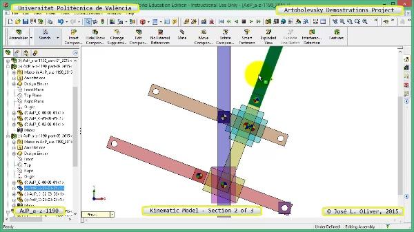 Simulación Mecanismo a-z-1190 con Cosmos Motion - 2 de 3