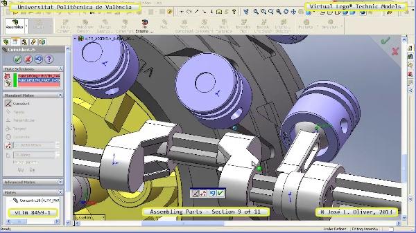 Montaje Modelo Lego Technic 8459-1 con Solidworks ¿ 09 de 11 - no audio