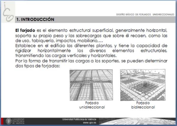 Diseño básico de forjados unidireccionales