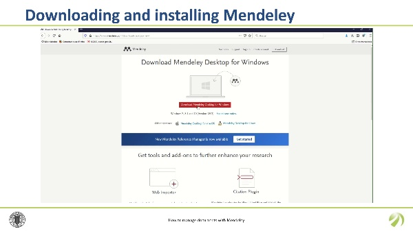 How to manage documents with Mendeley