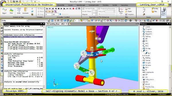 Simulación Dinámica de Tren de Aterrizaje con Recurdyn V8R5 - 4 de 7
