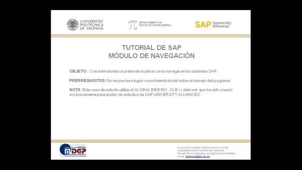 Tutorial de SAP: Introducción a la Navegación en el Sistema SAP (Caso de Estudio SAP UA)