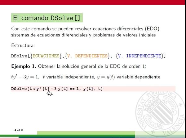 Solución general de una ecuación diferencial ordinaria de primer orden