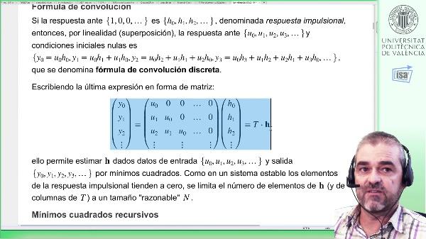 Identificación de respuesta impulsional discreta con regularización Kernel: ejemplo Matlab