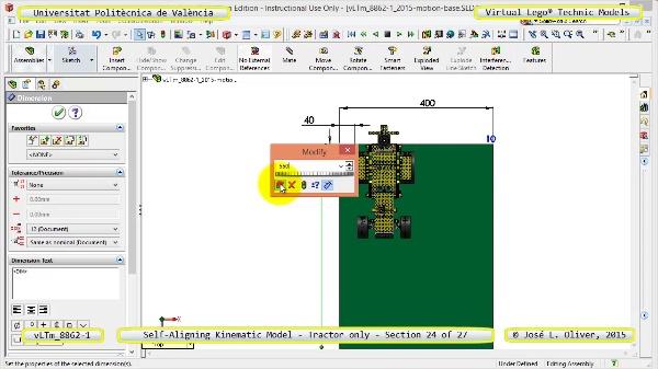 Simulación Dinámica Lego Technic 8862-1 - Tractor - sobre Base - 24 de 27