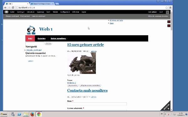 Maquetació de la pàgina principal en Drupal