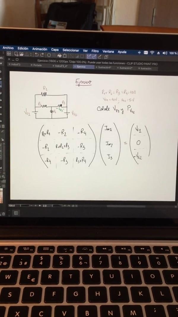 Teoría de Circuitos: 3.4.2.c.- Análisis de mallas. Calculadora