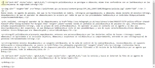 Pegar texto HTML en el editor de PoliformaT