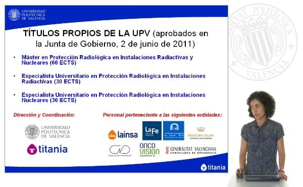 Presentación Títulos Protección Radiológica Curso 2011/2012