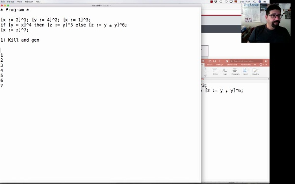 AVD. Unit 3. Live variables analysis (and 4)