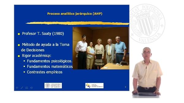 Proceso analítico jerárquico. AHP