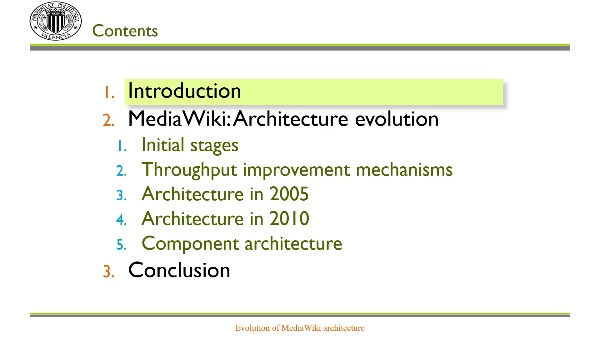 MediaWiki: Evolution of its architecture