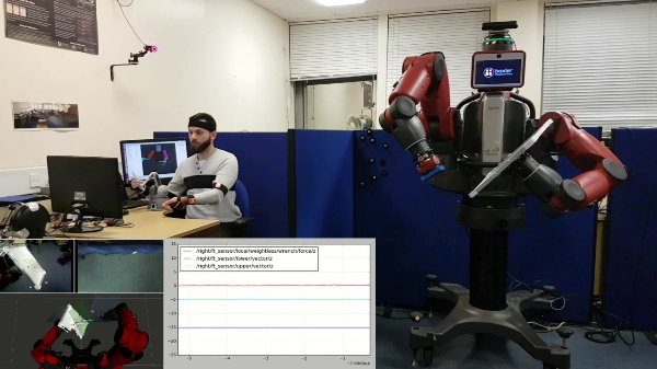 Dual-Arm Teleoperation Combining Haptics and Motion Capture: Complete Task