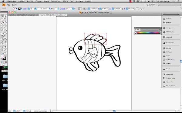 Adobe Illustrator herramienta color parte1