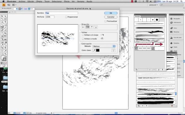 Adobe Illustrator herramienta pincel parte3