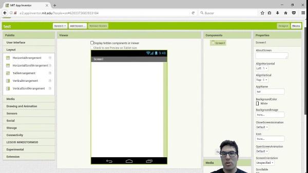 App Inventor2: Paleta de componentes