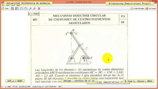 Simulación Mecanismo a-c-0654 con Cosmos Motion - 10 de 11 -