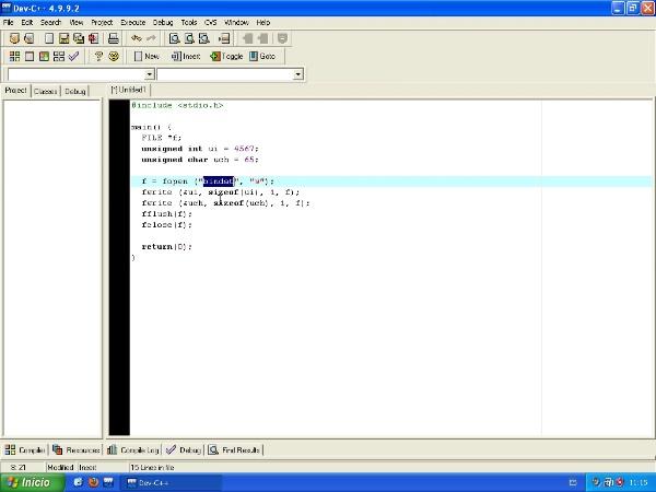 Utilización básica de Dev-C++