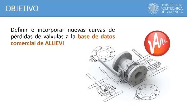Configuración de la base de datos de válvulas en ALLIEVI
