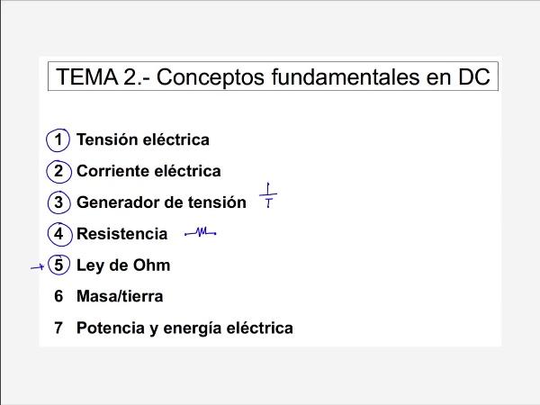 Teoría de Circuitos: 2.8.1.-  Ley de ohm