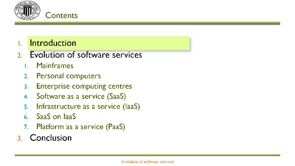 Evolution of software services