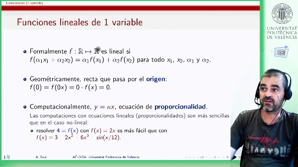 Linealización de funciones de una variable (recta tangente) [objeto aprendizaje]